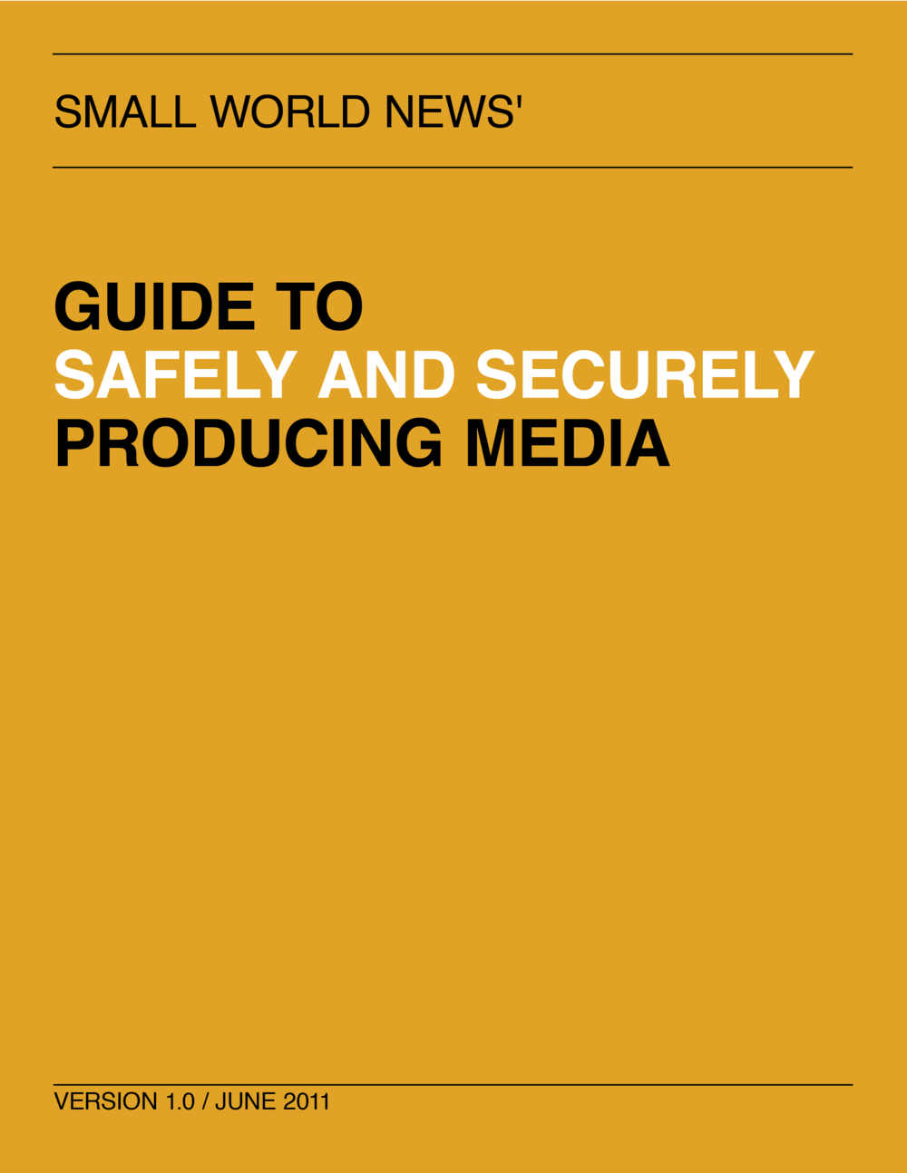 Guide to safely and securely producing media cover