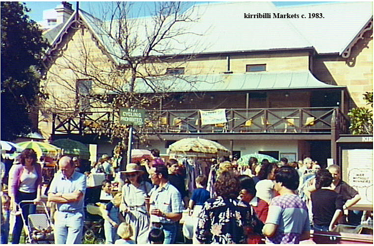 An early Market in the back courtyard of the Kirribilli Neighbourhood Centre, c.1983