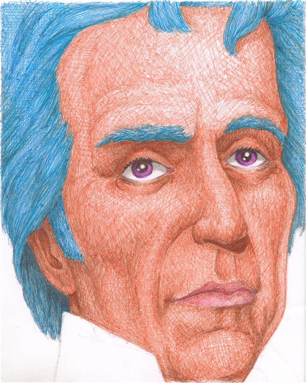 Study of Andrew Jackson   2010  Ballpoint Pen on Paper  7x9