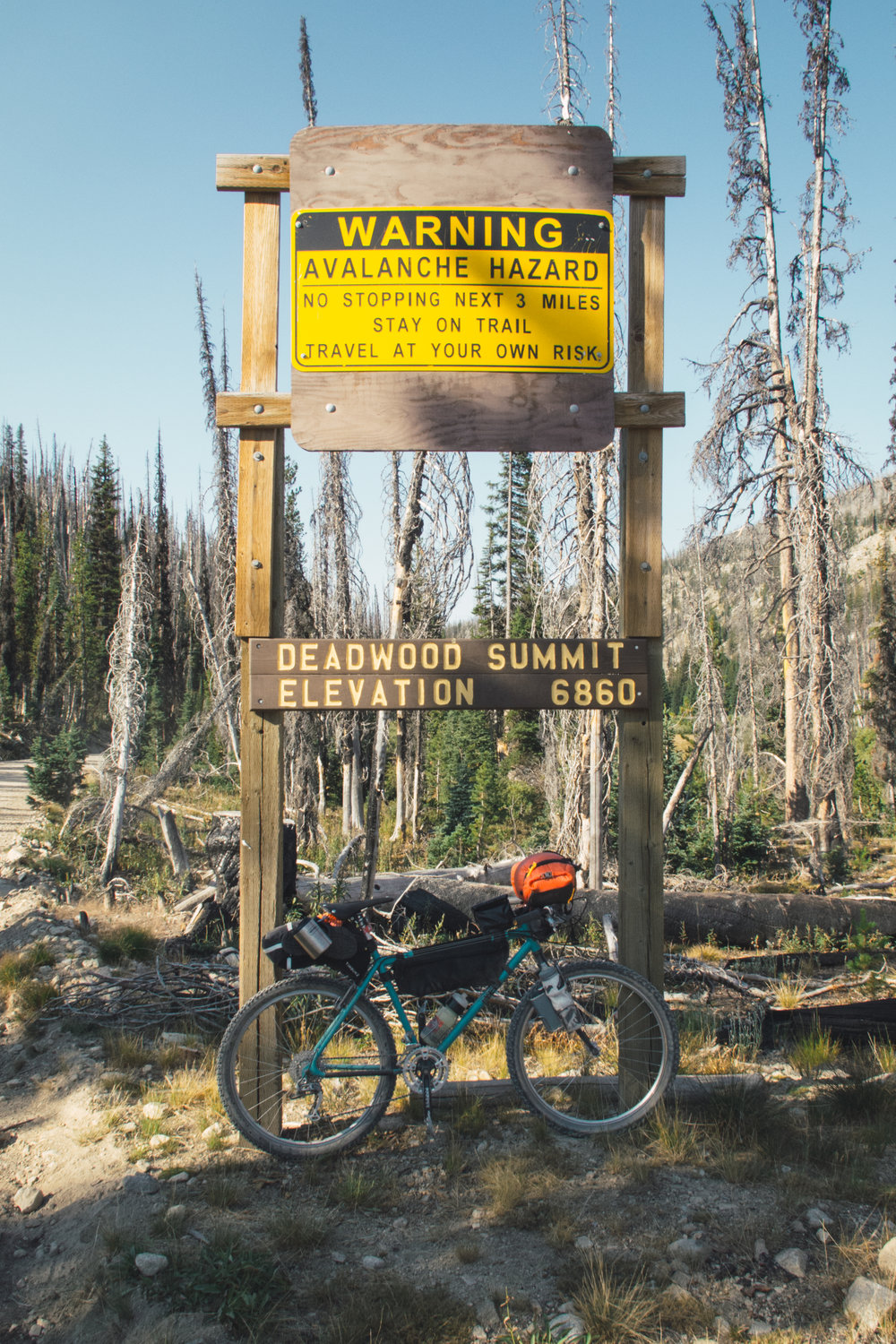 top of the deadwood summit  photo by blake