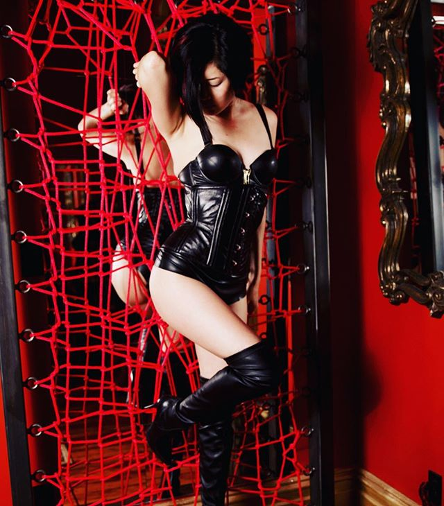 There are many ways to be free. One of them is to transcend reality by imagination, as I try to do. - Anais Nin  And never is my imagination more active than when I have you caught in my web in the dungeon. . . . #dominatrix #domination #mistress #femdom #femalesupremacy #prodomme #bdsm #femmefatale #tease #kink #asiangirl #asianmistress #asiandominatrix #teaseanddenial #fetishfashion #fetishphotography #fetish #女王様 #フェチ #ootd #adore #instafashion #bootfetish #leatherboots #leatherfetish #honeybirdette #darkgardencorset #leatherfashion #leathercorset from @darkgardencorsetry lingerie set from @honeybirdette photo by @tommydelriot