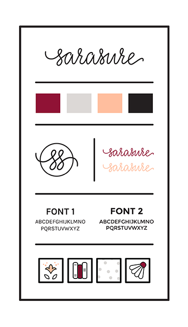 Sarasure brand style guide illustration