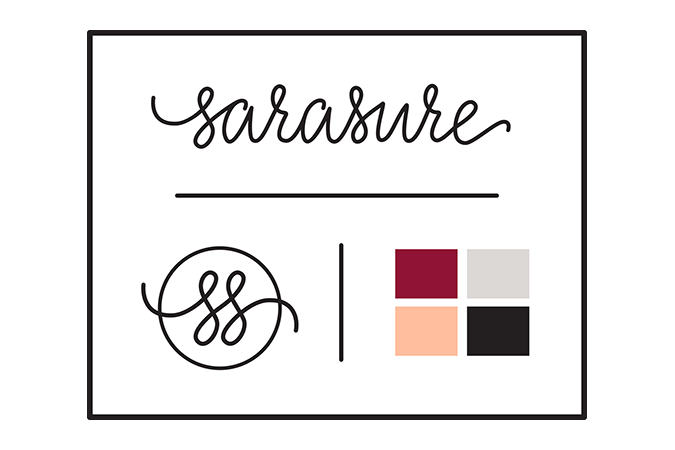Sarasure inspiration board illustration