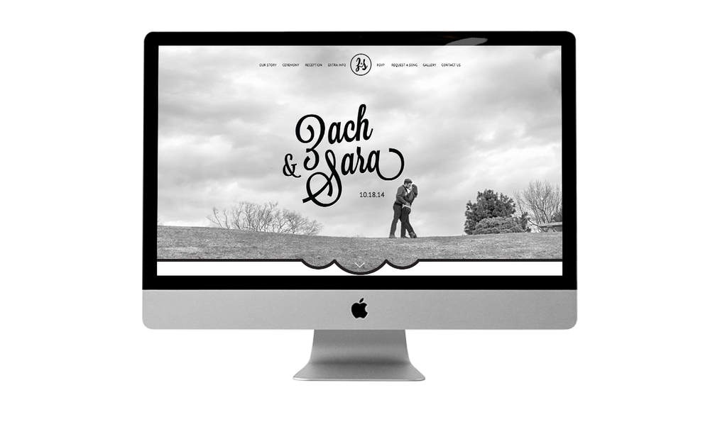 Z + S wedding website design