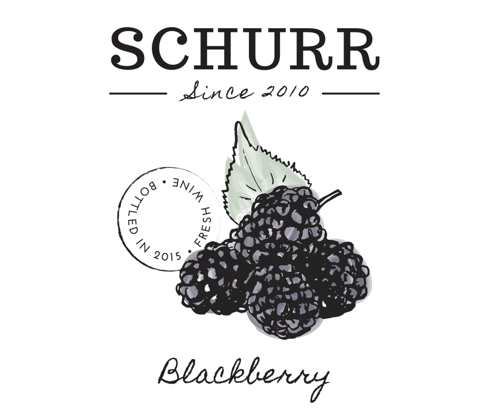Schurr wine blackberry label design