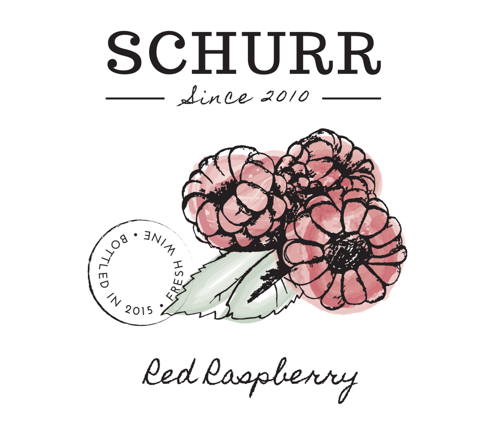 Schurr wine raspberry label design