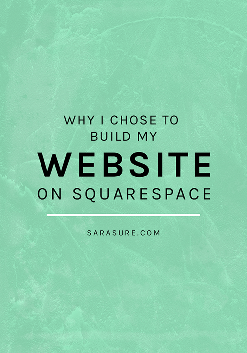 Why I chose to build my website on Squarespace