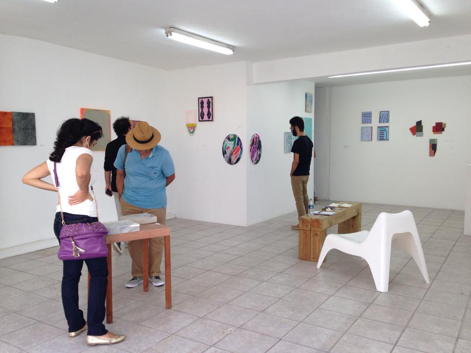Installation view of By the Pleasure of Doing group show, curated by Juan Alberto Negroni at Espacio 20/20.