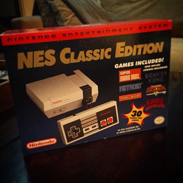 Thank You Jeff Pawlik and @niki.paw for this incredible gift!!! #nintendo #nes #nesclassicedition #supermario #zelda #icarus #kirby #bestgiftever