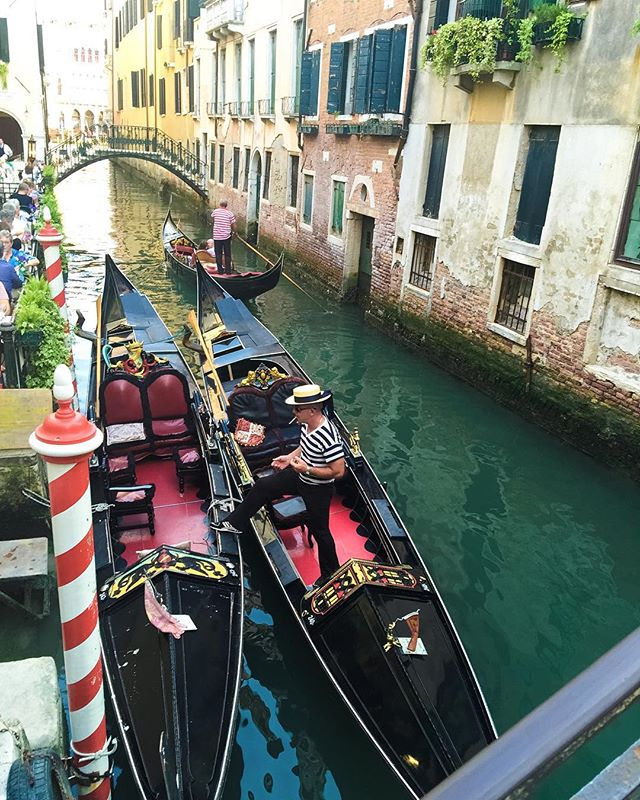 Quintessential gondoliers #gondola #venice #italy #travel