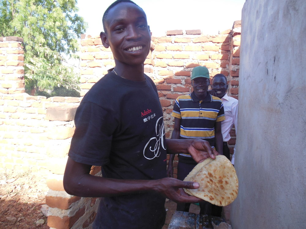 Albert made Chapati for everyone which is like a tortilla.