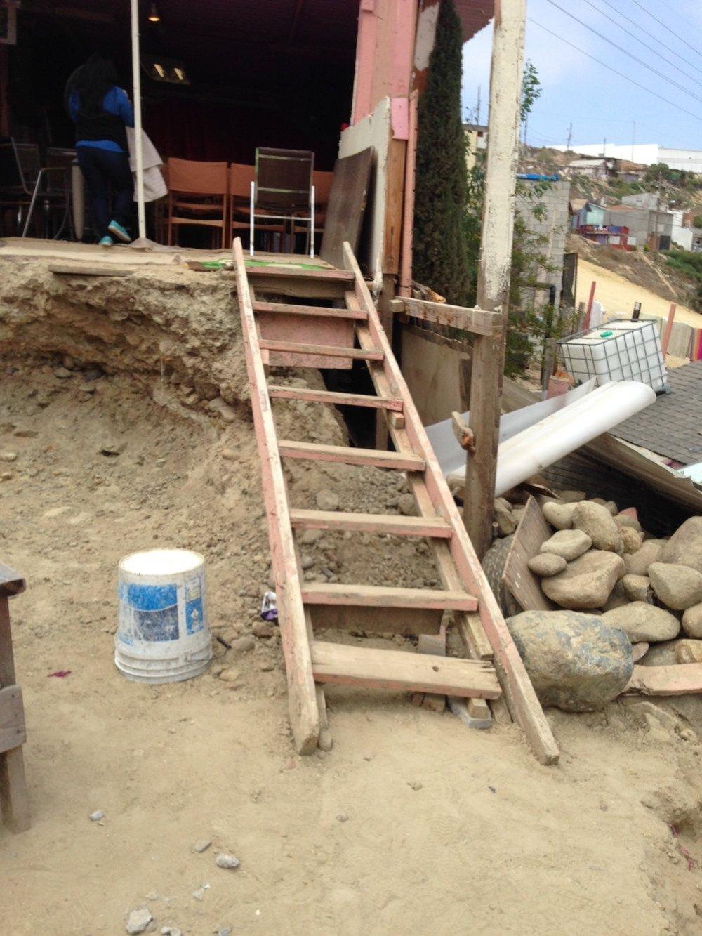 ladder to church.JPG
