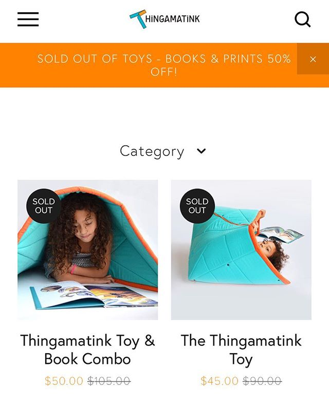 Aaand that's a wrap, folks! We are SOLD OUT of thingamatink toys! 🌟🍾 🎊🎉🎉🎉