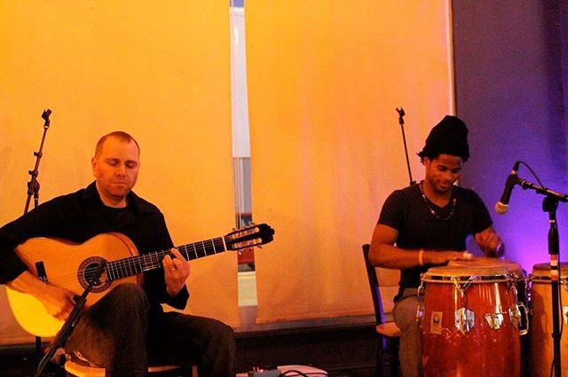 Playing with one of my favorite percussionist, Jeff Pierre  #stephenduros #jeffpierredrums #germanvazquezrubio
