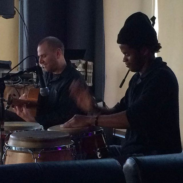 Live in Oakland with one of my favorite  percussionist Jeff Pierre  #stephenduros #jeffpierredrums #germanvazquezrubio