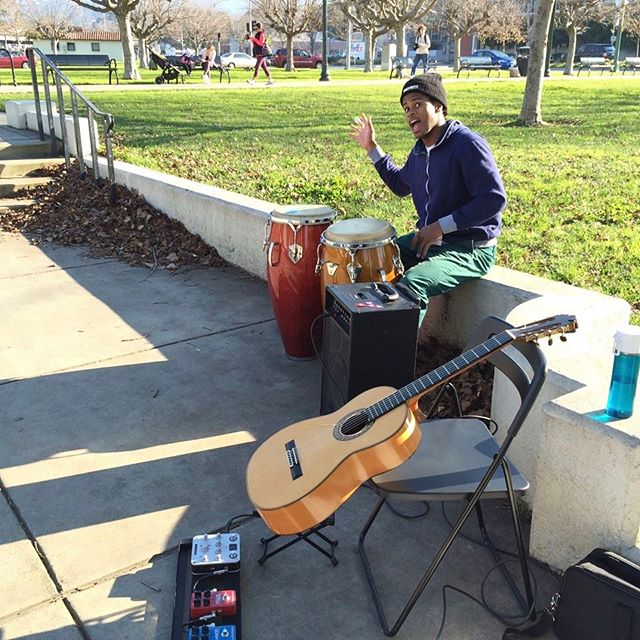 Park jam with Jeff Pierre #jeffpierredrums #stephenduros #music #oakland