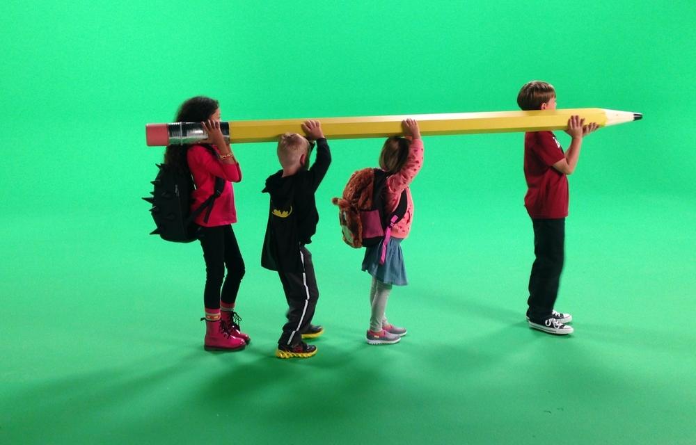 10 foot tall pencil for Kroger