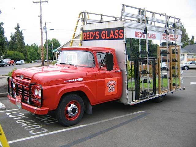 Vintage Glass Repair Truck