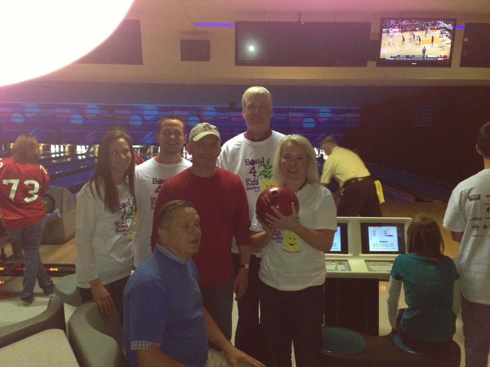 """Bowl for Kids"" with fellow Rotarian's, Dr. & Mrs. Bobby Fisher, Lee Szymborski, Terry Schaucht, Dick Dieffenbach"