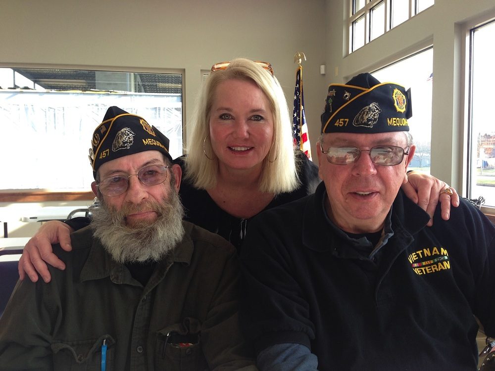 Veterans and Cindy Shaffer at the Legion 15 Post 147 Ribbon Cutting