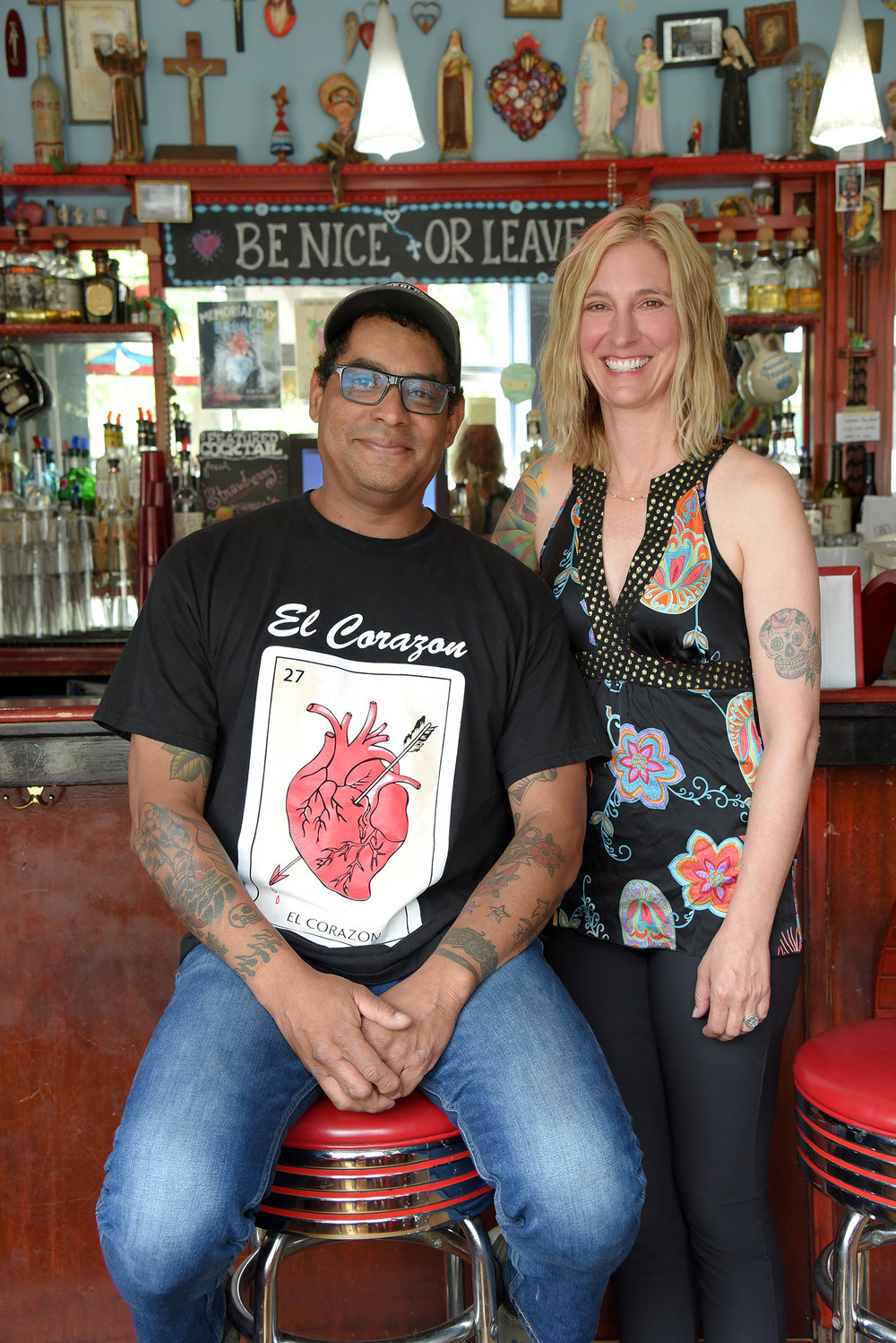 George Mireles (Owner, Cafe Corazon), Wendy Mireles (Owner, Cafe Corazon) - Photo By Katy Rowe (Artist Group).JPG