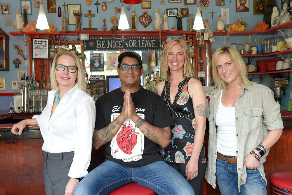 Cindy Shaffer (Owner, Shaffer Development), George Mireles (Owner, Cafe Corazon), Wendy Mireles (Owner, Cafe Corazon), Jenni Vetter (Chief Operating Officer) - Photo By Katy Rowe (Artist Group).JPG