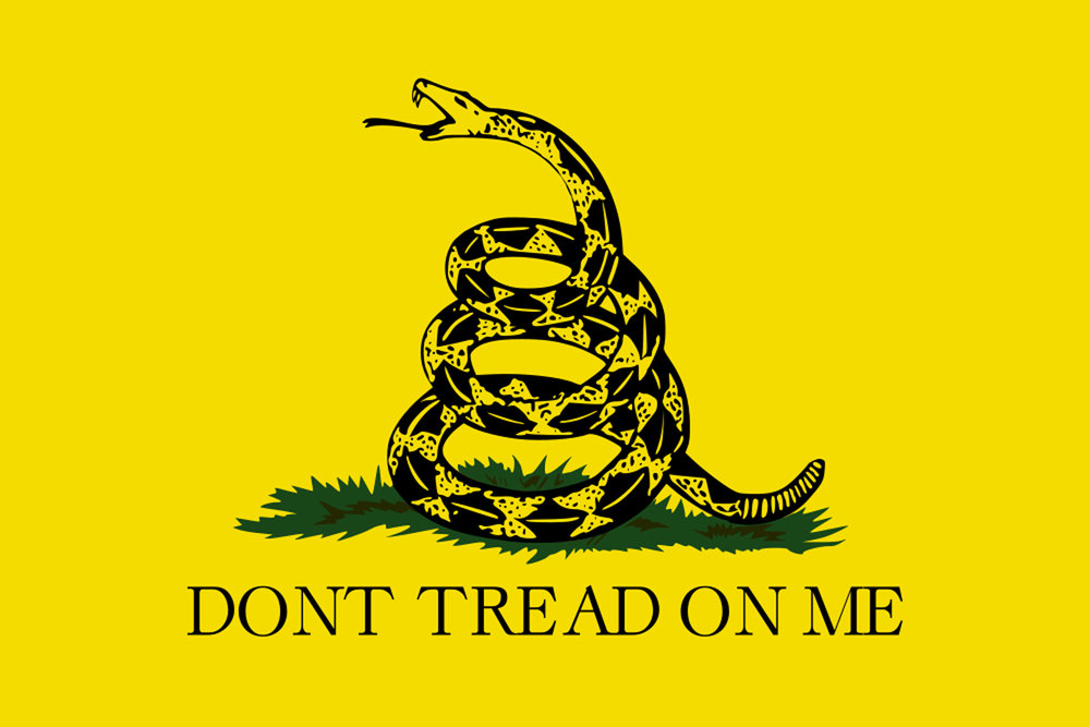 Original Don't Tread on me Flag designed by Christopher Gadsend in 1775 during the Revolutionary War
