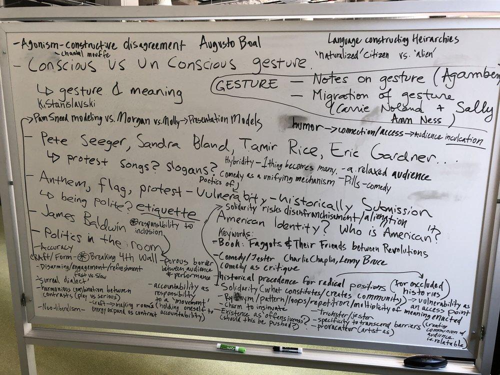 Morgan Bassichis Colloquium White Board 1