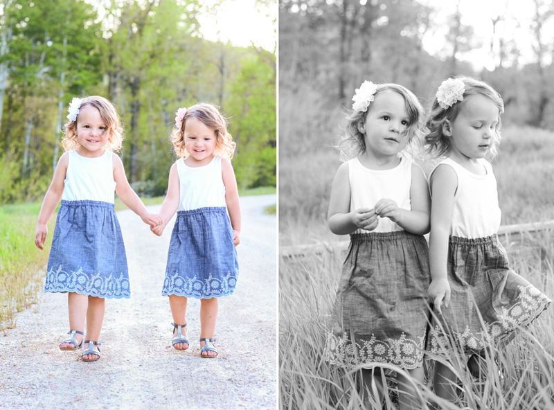 Photoshoot of Twin Girls - Portraits of Kids - www.mommatography.com