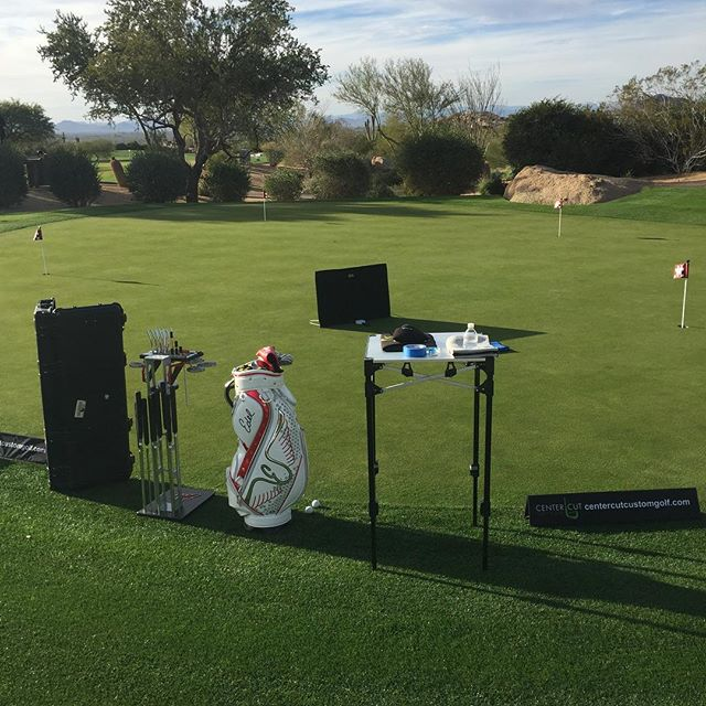 Perfect day for some @edel_golf putter fittings at Estancia Golf Club. Don't forget to get your gift cards to save on your next fitting. 15% off at the link in our bio.