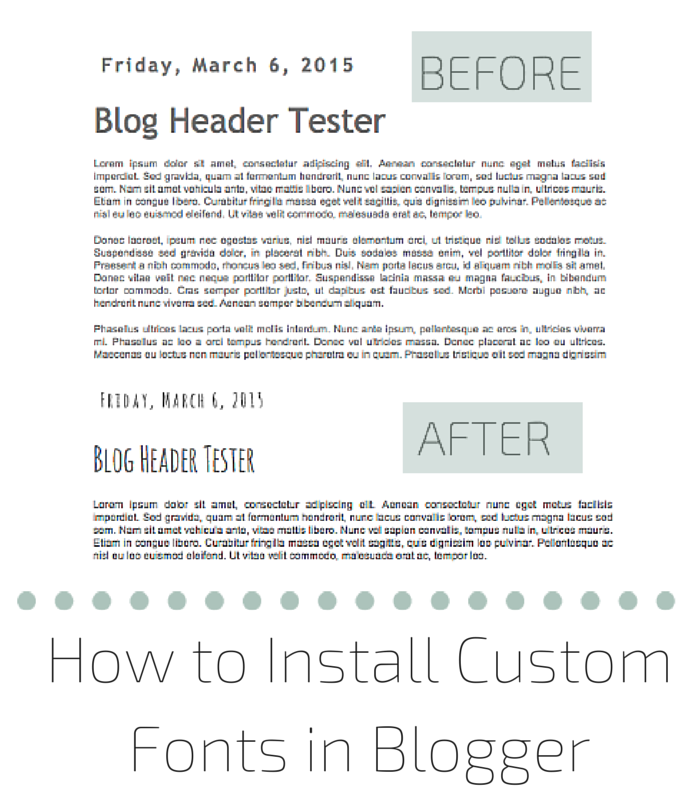 How to Install Custom Fonts in Blogger