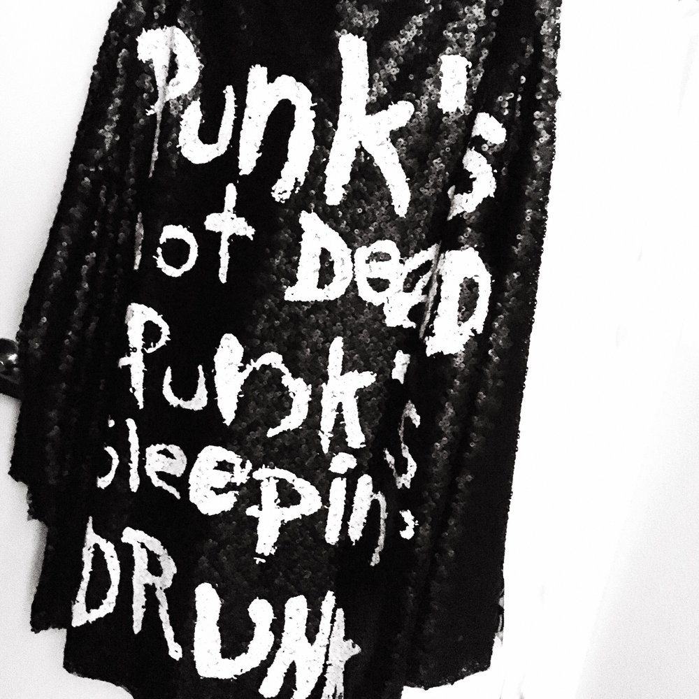 punks not dead... punks sleeping drunk