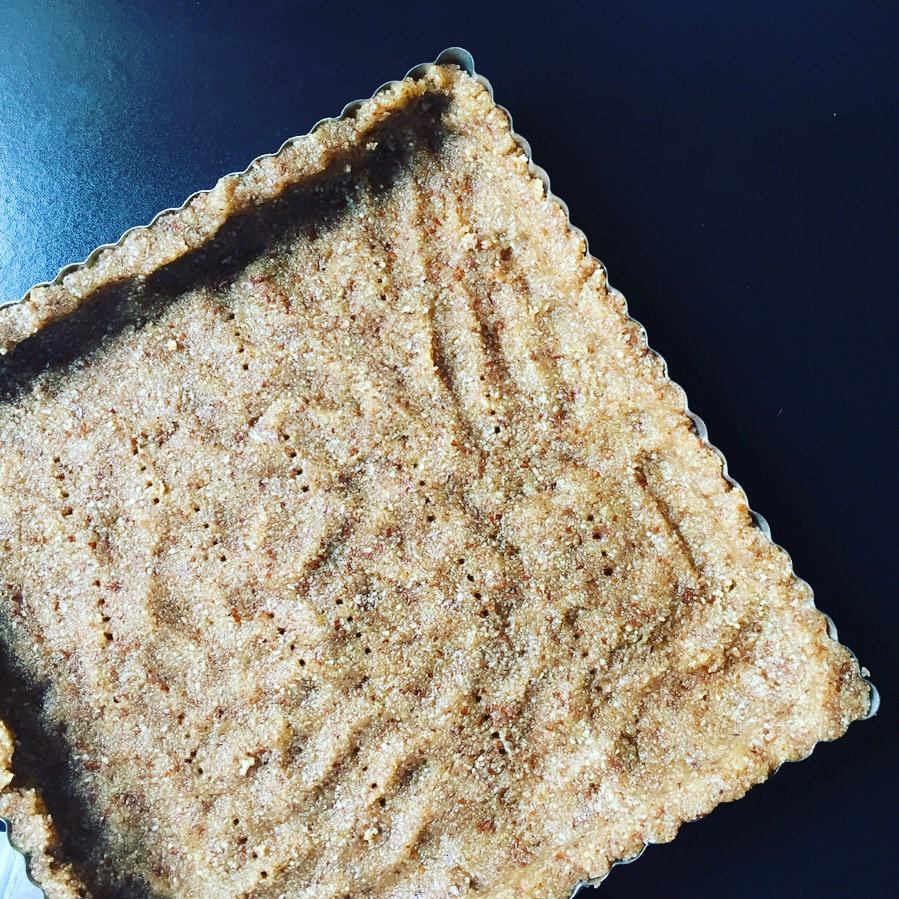 Almond Flour Olive Oil Crust, pre-bake.