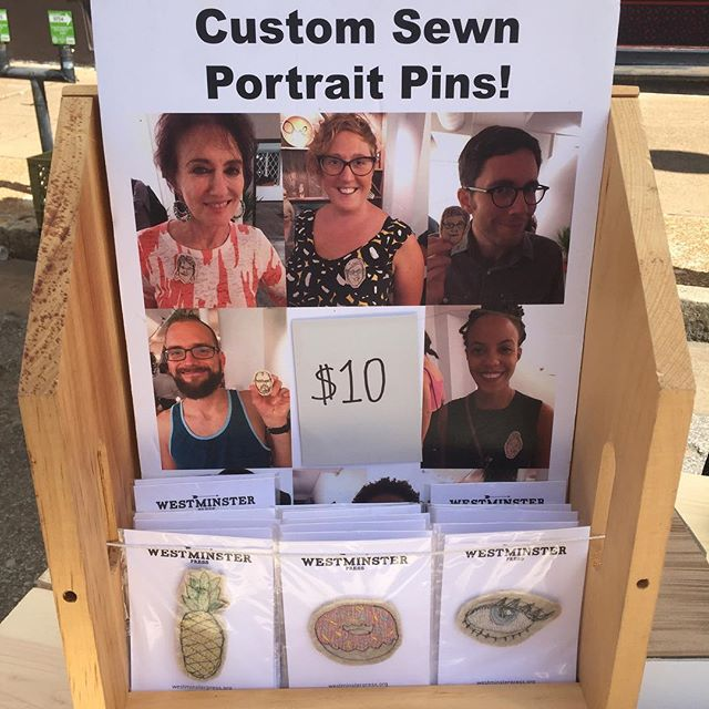 Come get your very own sewn portrait at @cherokeestreet Cinco de Mayo! We're at Cherokee and Oregon (2835 Cherokee)