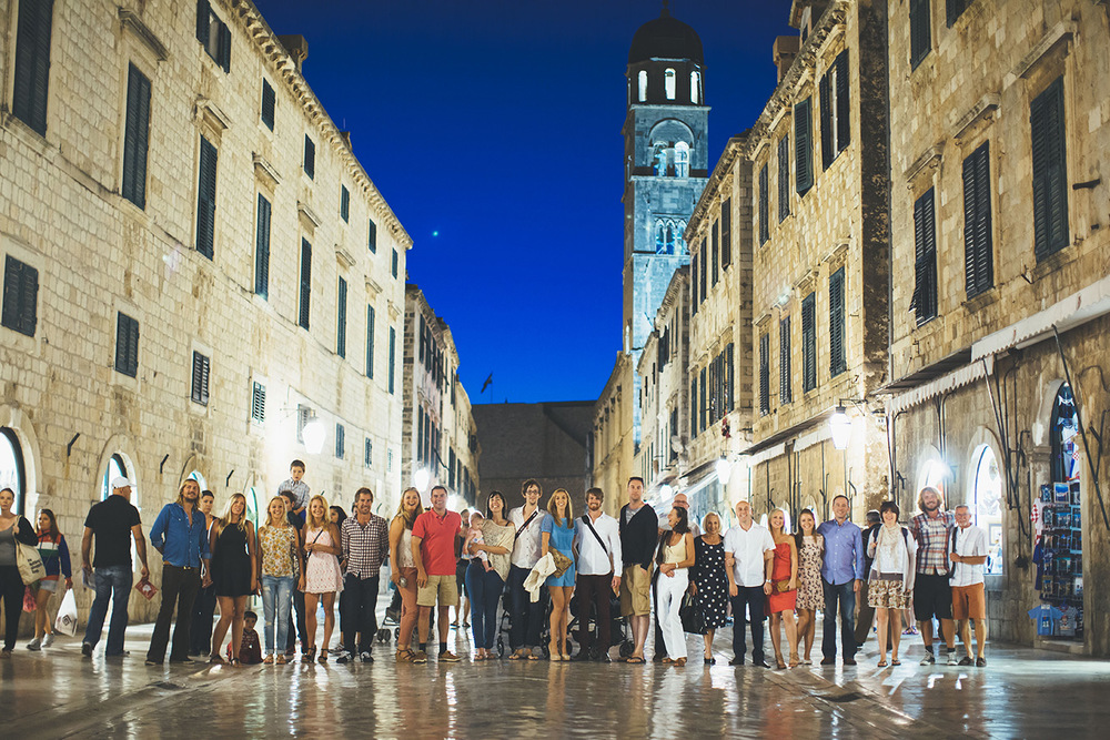 One of a set of images taken at this chic destination Wedding of Jenna & Nick. The stylish old town of Dubrovnik, Croatia.  Photography by Matt Porteous
