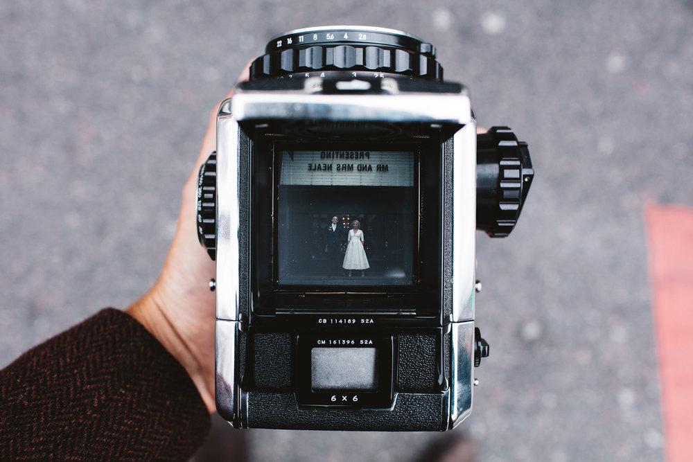 Siobhan & Andrew - Location - MC Motors LondonPhotographer - Matt Porteous