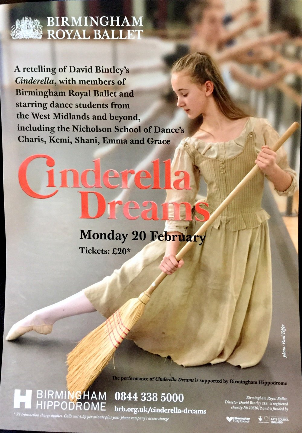 Very much looking forward to watching some of my students dance at the Birmingham Hippodrome on Monday 20th Feb. A wonderful opportunity for them to be involved in such a professional production.