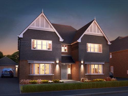 harlington plot 3 dusk oct30jpg - New Houses Images