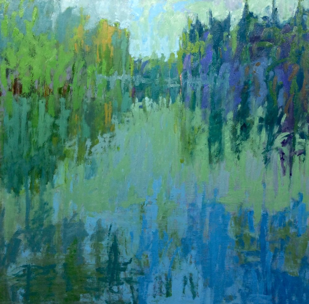 Jane Schmidt REFLECTIONS IN BLUES AND GREENSS 36 x 36 oil on wood.jpg