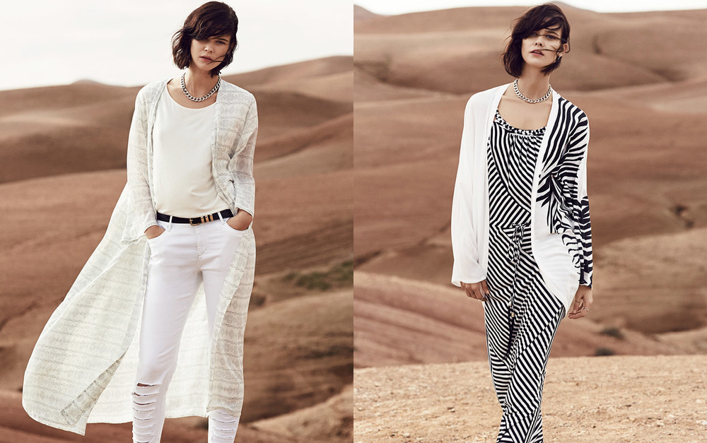 Miller's Desert Rose–denim styled with luxurious fabrics &sun-toned prints.