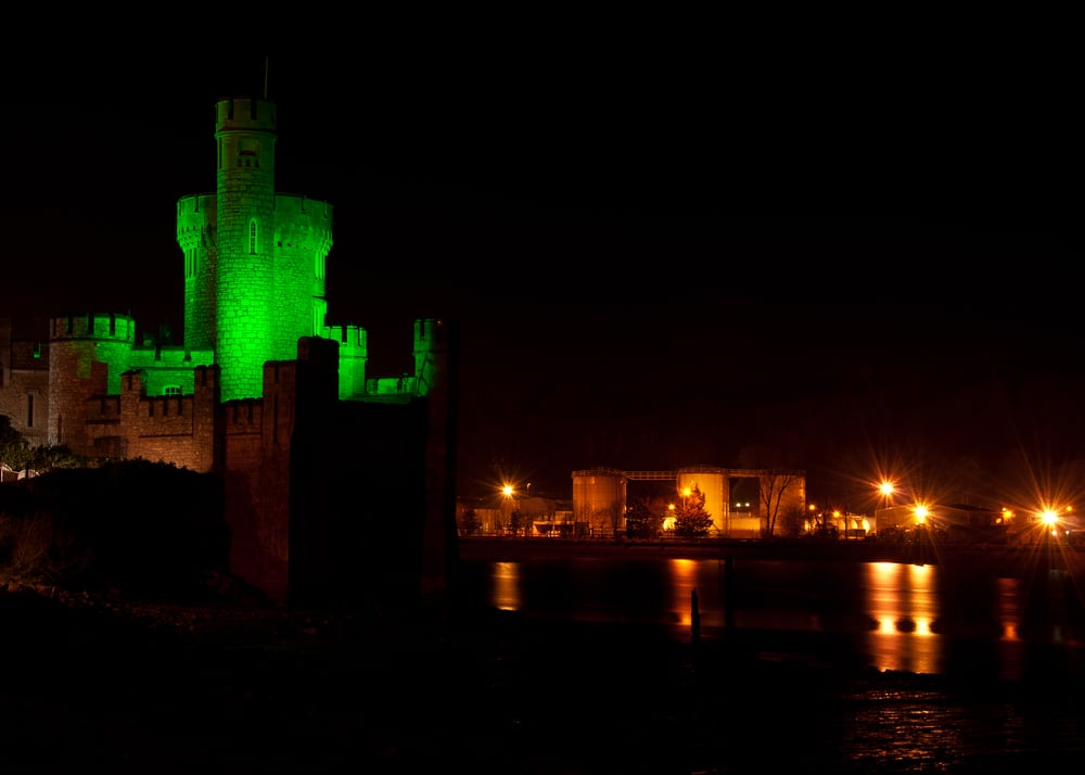 Blackrock Castle - everything from the castle to the lights and tanks behind are in focus.