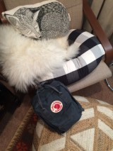 Beam's Fjallraven bag is packed with all sorts of cozy goodies to welcome him into the world!