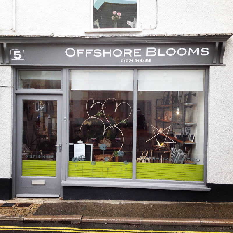 Offshore Blooms shop front, braunton