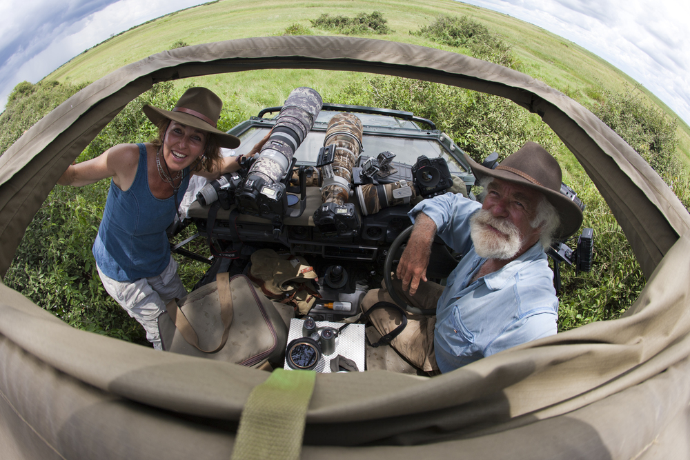 "Derek and Beverly are award-winning filmmakers, conservationists, and National Geographic Explorers-in-Residence, who have been filming, researching and exploring Africa for over 30 years. Through their media company ""Wildlife Films"", they have made blue chip productions for National Geographic, all of which focus on Africa's wildlife, with strong conservation messages at their core. The Jouberts also co-founded the Big Cats Initiative with National Geographic, as an emergency initiative to slow the rapid decline of big cats around the world. The Joubert's have received international recognition for their films and conservation work. Such accolades include 8 Emmy's, a Peabody, a Wildscreen Panda & Outstanding Achievement Award and a Lifetime Achievement Award to name but a few. Yet their greatest rewards have not come in the form of trophies that can sit on their shelves, but in their conservation successes, saving the wildlife they love and the wilderness which has become their home."