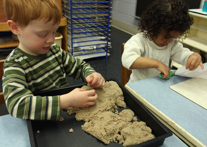 Sensorial – Children use their hands to explore and understand the world around them. Hands-on materials are prevalent in a Montessori classroom. This area allows children to explore using all of their senses.