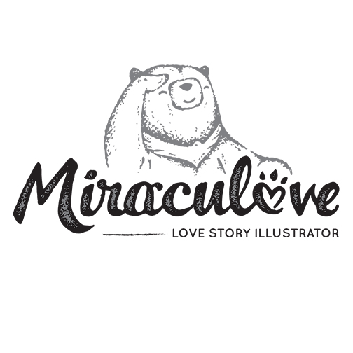 Miraculove - A love story illustrator, recognised as the Top 10 Designers in Singapore. Miraculove translates couples' love stories into creative and befitting aesthetics in myriad art mediums ranging from hand-drawn illustrations, watercolour, acrylic paint, graphic art to vector art.
