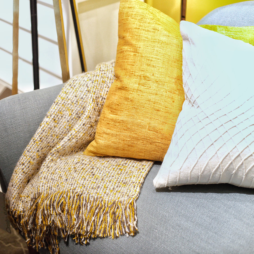 Layer with a throw. - From soft and snug textures to rich and subtle patterns, a throw provides the perfect finishing touch to your sofa by adding contrast and depth for extra comfort.