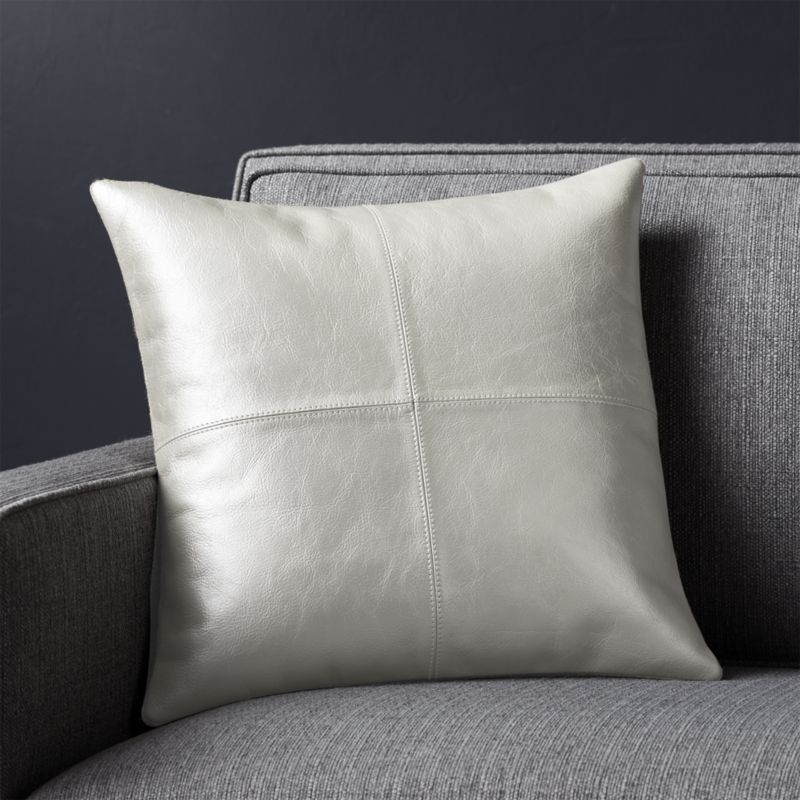 Chaz Pearl 16x16 Pillow Cover - Reg $249.95 Sale $99.50
