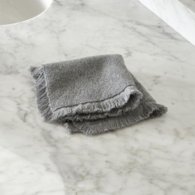 Grey Fringe Wash Cloth - Reg $12.95 Sale $5.50