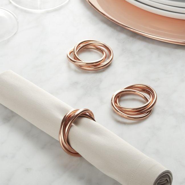 3-ring Copper Napkin Ring - Reg $8.95 Sale $3.50